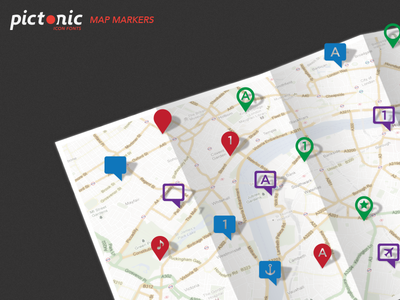 Pictonic - Font Icons: Map Markers