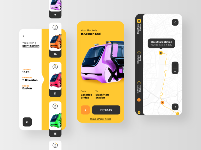 Public Transport Application transport publication app rondesign