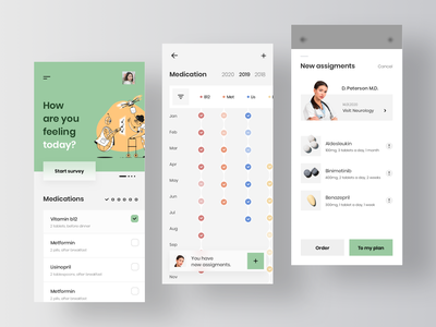 EHR - Healthcare Patient App ehr electronic health record app service rondesign pharmacy pharmaceutical pharma medical app medicine online drugs medical medecine healthcare health
