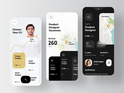 Jobler - Job Search Platform Mobile App employees employer employee hiring platform hiring candidate cv resume cv design careers page career job application job listing job board jobs job rondesign mobile