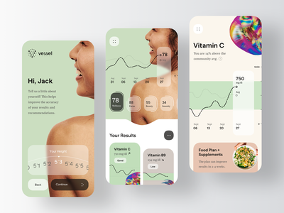 Vessel - Medical Mobile App Design medical care medical app medical medecine medicine testing test supplements supplement health care health app healthy health healthcare patients patient mobile app mobile