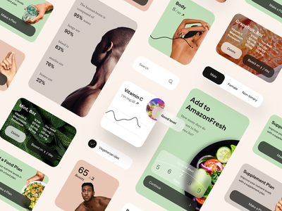 Vessel - Personal Trainer App Modules product design health care health app healthcare healthy health coach trainers fitness app fitness trainer supplies supplements supplement mobile app mobile
