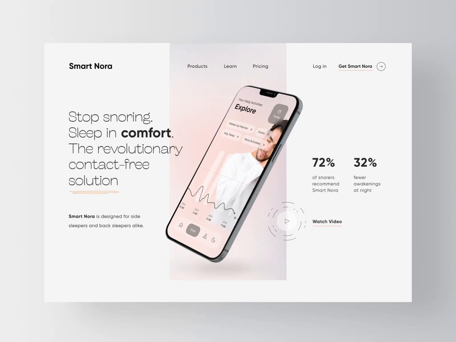 Smart Nora - Website Landing Page Design