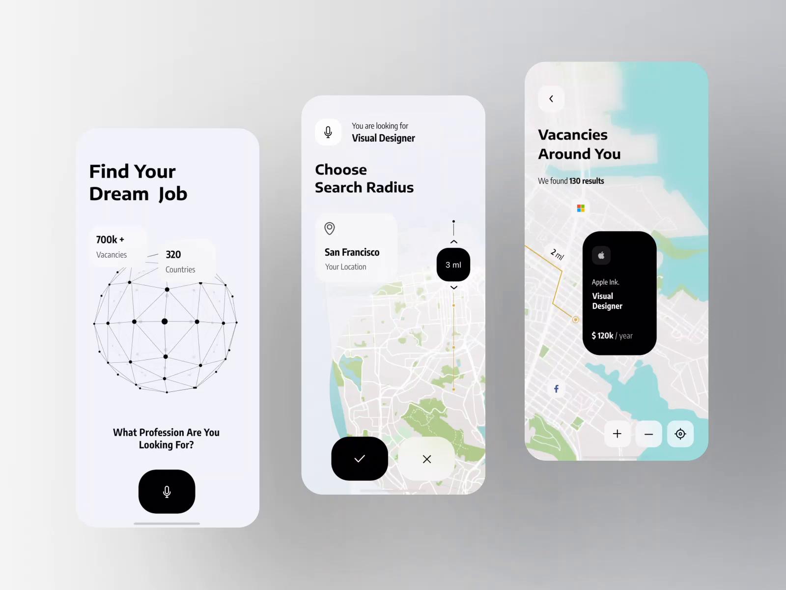 Jobly - Job Search Platform Mobile Animation