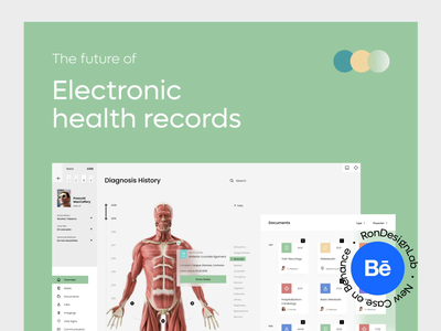 EHR - Electronic Health Record System Behance Case clinic medical app patient app hospital patient public health health app health-care health care healthcare medecine medicine behance phr emr ehr rondesign web