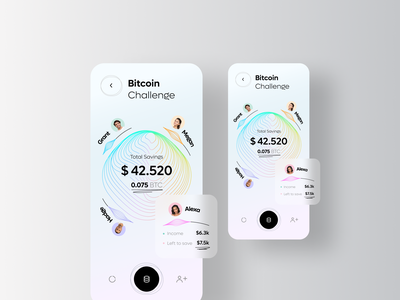 Financial App - Personal Assistant budget money helper help financial bank fintech savings assistant finance rondesign app