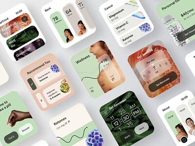 Vessel - Medical Apple Watch Application product design mobile healthy health app healthcare emr phr ehr medecine medicine medicines medical additive supplement supplements