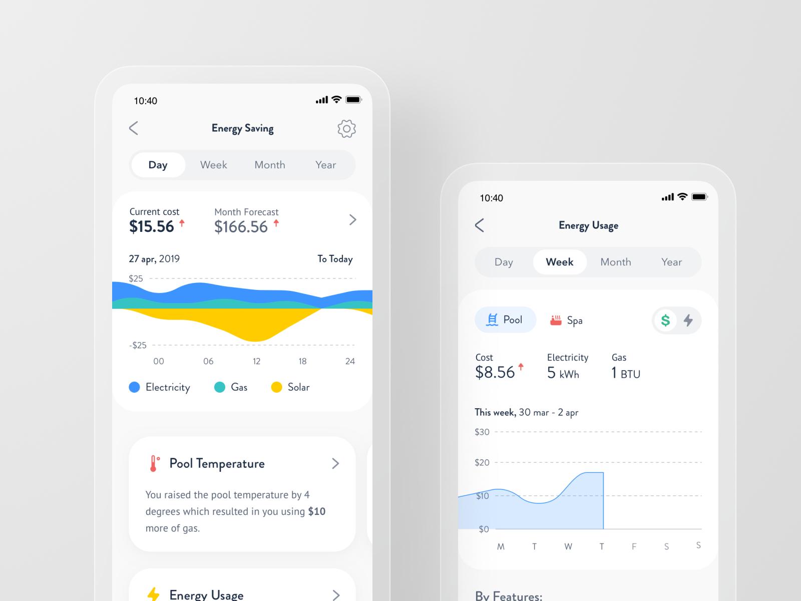 Smart Pool App - Energy Saving