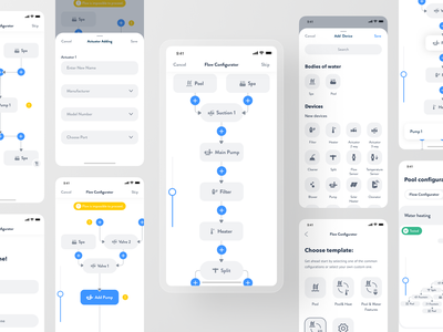 Smart Pool App - New Device Connection mobile app smart home smarthome swimming quality save safe water remote home automation spa pool connection device control product design