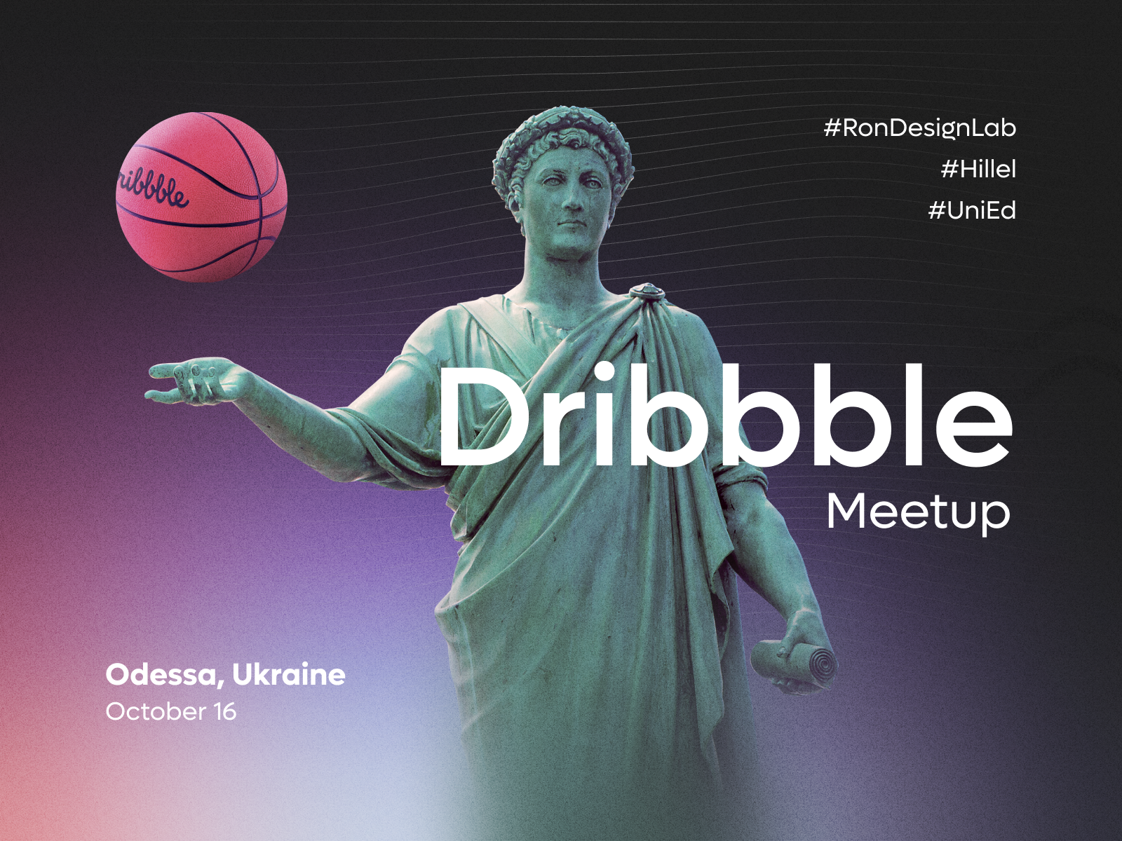 Odessa Dribbble Meetup by Rondesignlab
