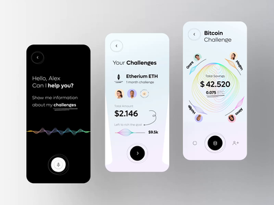 Financial App - Personal Assistant Animation blockchain cryptocyrrency crypto budget money finance fintech financial help bank assistant assit savings mobile app animation
