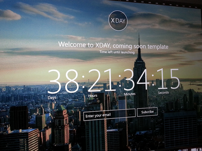 Coming Soon Page coming soon web ui ux subscribe
