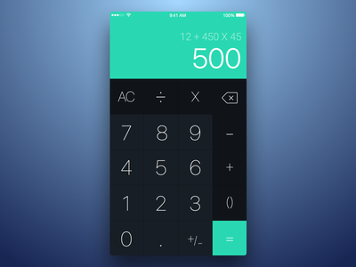 5th Week (Monday) - Calculator themeforest free sketch rondesign mobile app plus calc
