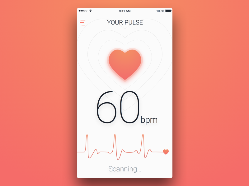 5th Week (Tuesday) - Pulse Measure themeforest free sketch rondesign wave heart mobile app measure pulse