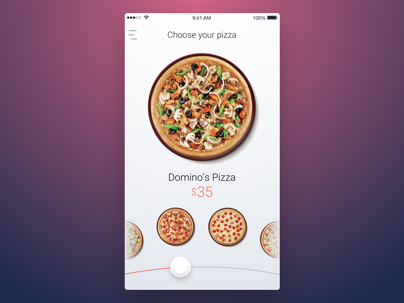 9th Week (Thursday) - Pizza themeforest free rondesign mobile app ui sketch pizza
