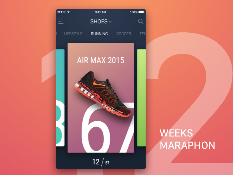 [FREE] 12 Weeks Sketch Marathon UI Kit freebie free preview rondesign 12 weeks marathon ui