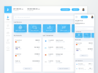 Online banking dashboard by ron e dribbble dribbble for Banking dashboard templates