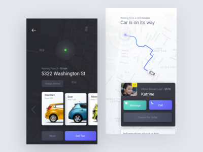 Rethinking Taxi App Design service ride sharing rent car rental car booking booking car bills accounting uber rondesign ride app taxi