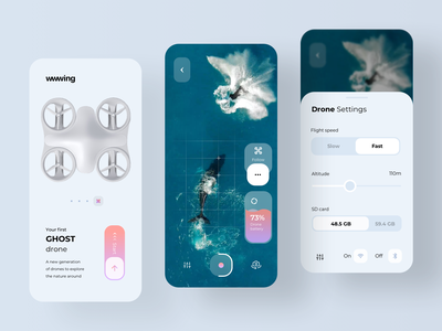 Application for Air Drone remote control remote air augmented reality augmentedreality navigation location delivery app quadrocopter quadcopter delivery fly dji rondesignlab drone rondesign