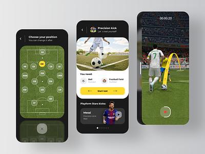 Learning Platform Mobile App - Football ⚽️ task student study learning app learning knowledge courses exam educational learning platform learn class app rondesign