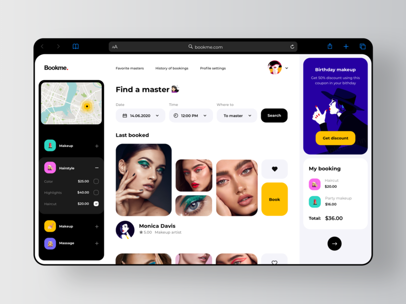 Location Based Services - Beauty App 💅🏻 marketplace timepicker shedule services salon beauty salon master events event ecommerce date picker datepicker calendar booking app bookings beauty appointment booking service