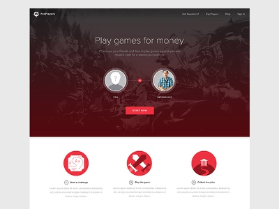 ForPlayers forplayers gaming esports landing website web