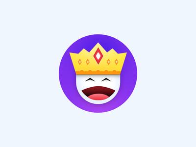 The King king icon badge forplayers crown emoji