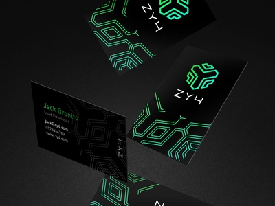 ZY4 Business Cards brand future branding security encryption zy4