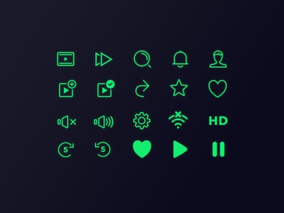 Icon pack for jist.tv rewind icon wifi icon heart play video custom icons icon pack icons gaming esports game