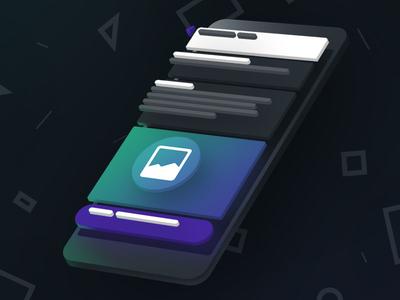 iPhone render for Koncepted 3d illustration placeholder app app render app render iphone