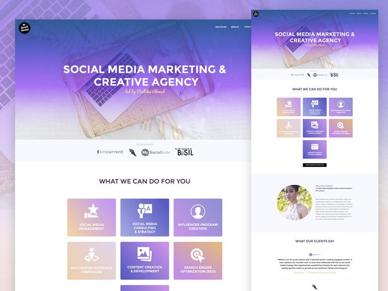 Squarespace Custom Design landing marketing portfolio portfolio agency social media custom theme marketing squarespace