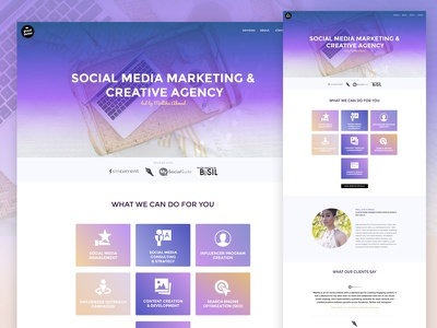 Squarespace Custom Design landing marketing portfolio portfolio agency social media custom theme marketing squarespace
