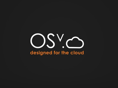 OSV.cloud Cool Branding :D cloud negatif icon logo os operating system design platform brand orange idea smart