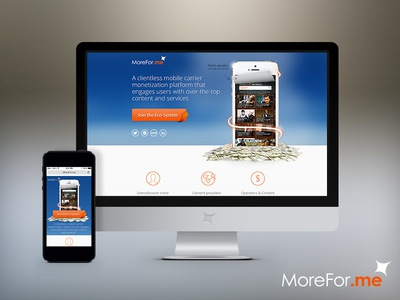 MoreFor.me by Flash networks Landing Page :D