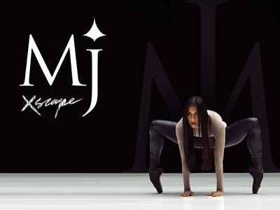 Typographic MJ Dance :) negatif dance music michael jackson japan black xscape exscape star space