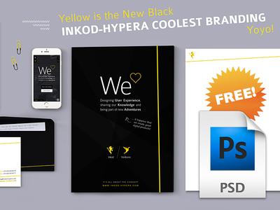 Yellow is The New Black  |  INKOD Brand Mockup FREE PSD!!!