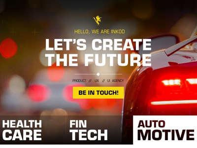Inkod New Landing Page ux product future lions security cyber automotive fintech healthcare inkod landing page