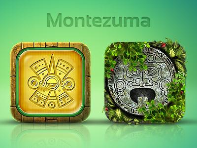 Fantastic Montezuma Game App Icons for Mindlab :)  concept game app iphone android icon icons vanessa webbstock inkod hypera ilan dray fantastic wow montezuma jungle green mexico cuba brazil mindlab