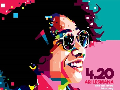 "WPAP Fans Art ""4.20"" colorfull vector potrait caracter design illustration design illustrator illustrations popart wpap"