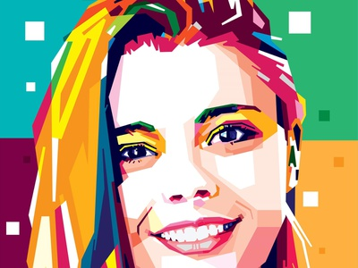 Make your smile colorfull (comission work) illustrator illustrations design wpap potrait popart vector illustration caracter design colorfull