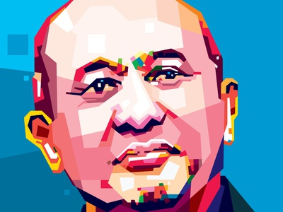 Look Forward (comission work) fullcolor freelance designer comission illustrator graphic design caracter design potrait vector art popart wpap vector colorfull design
