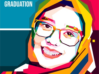 Happy Graduation color comission vector art potrait caracter design graphic design popart vector wpap illustrations colorfull