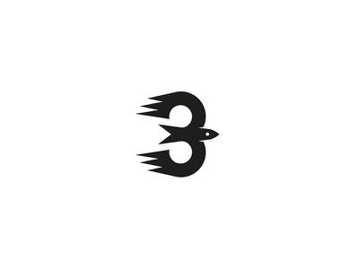 Bird vector minimal design graphic logo bird