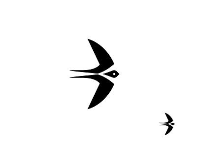 Swallow design logo icon