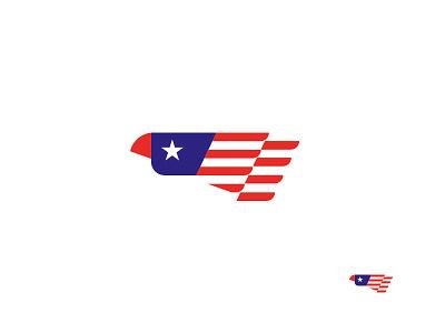 USA flag eagle icon design logo usa