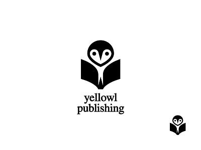 yellowl publishing owl icon owl logo logo design logo icon owl