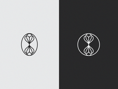 Flowerless logo mark natural apothecary flower