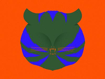 Meow illustration cat tiger