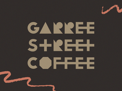 Garree Street Coffee friends caffeine shop coffee branding logo