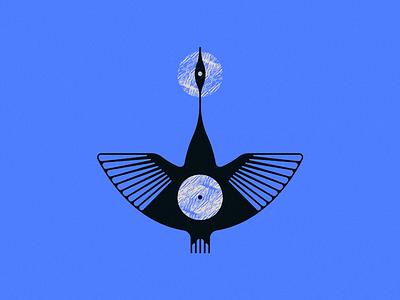 GOOSINGTON sun blue goose bird